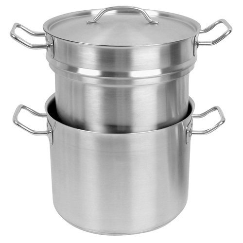 Tiger Chef SLDB020 20 Qt. Double Boiler With Cover