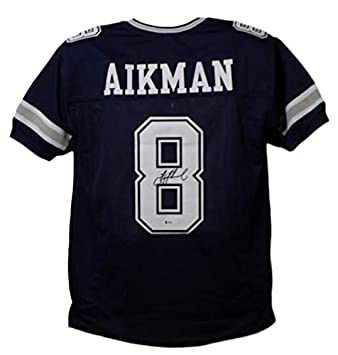 huge selection of 825a5 35a1b Troy Aikman Autographed/Signed Dallas Cowboys Blue XL Jersey ...
