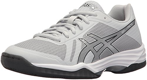 ASICS Womens Gel-Tactic 2 Volleyball Shoe, Glacier Silver/Dark Grey, 7 Medium US