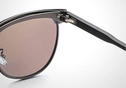 para Polarized medio marco Gafas Yao sol de conducción de Classic de UV400 de metal blue Marca gafas sol Gun hombres moda de Unisex WYx7ZnxF