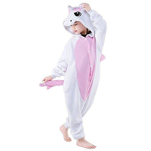 Cosplay Animal Pajamas Sleepwear Kids Childrens Unisex Onesies Halloween Costume (XXL (Height 130-140 cm), Pink Unicorn)
