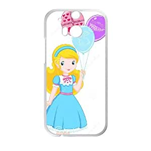 HTC One M8 Cell Phone Case White Alice in Wonderland Character Alice HG7647981