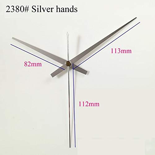 Maslin 100sets S Shaft Clock Hands 2380#Silver (just Hands) Metal Aluminum DIY Hands Quartz Clock Accessory DIY Clock Kits