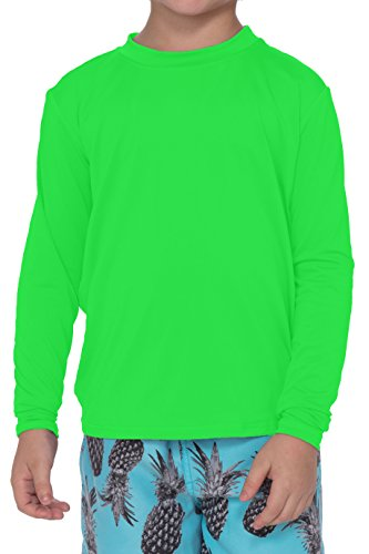 Practice Black T-shirt Youth (Youth Athletic Performance UPF 50+ Long Sleeve Sun Protection Shirt Boys Girls (Green, X-Large))