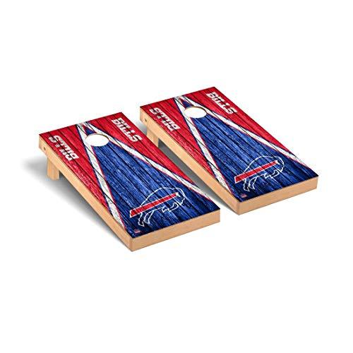 Victory Tailgate Buffalo Bills NFL Football Regulation Cornhole Game Set Triangle Weathered Version