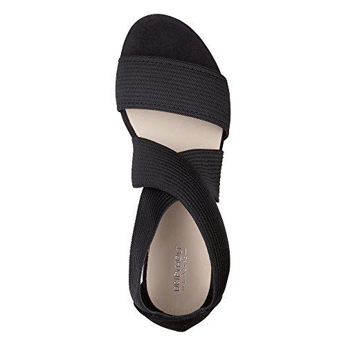 DRIEVHOLT Damen Trend-Sandale, Riemchen Sandalette in Schwarz mit rutschhemmender Sohle Schwarz