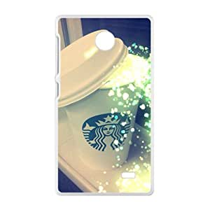 Shiny Starbucks design fashion cell phone case for Nokia Lumia X