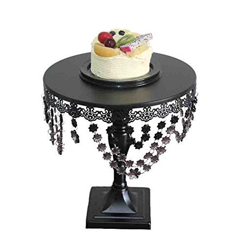 Cupcake Stand, BotituBlack Dessert Stand with Premium Crystal Decoration Cupcake Display, Perfect for Birthday, Baby Shower, Thanksgiving, Christmas, Graduation and Wedding Cake Stand(big (Big Halloween Cakes)