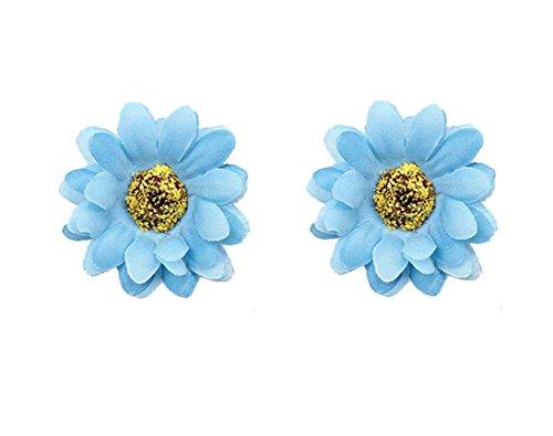 Kewl Fashion Women's Bohemia Sunflower Hairpin Hair Clip Flower Brooch (Blue)
