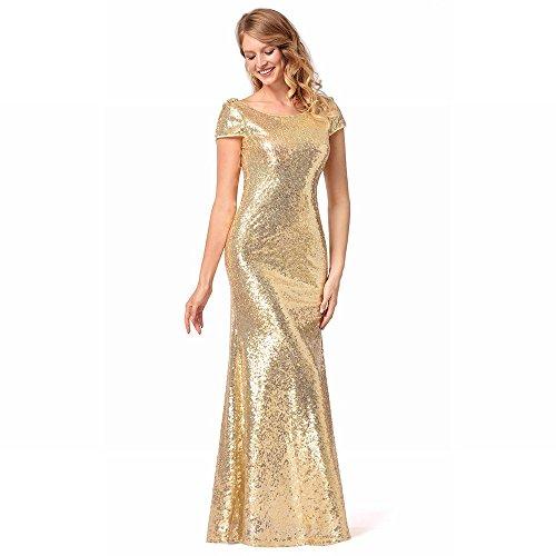 Donna Oro Abito Paillettes Qualità Di DHG da con XXL Alta xEcqd88wPC