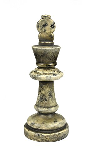 Sagebrook Home 11611 Chess Piece Decor, Wood Look Polyresin, 4 x 4 x 10.5 - Piece Chess Polyresin