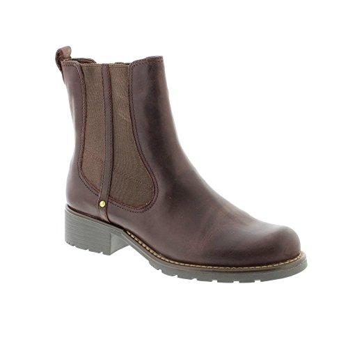 Clarks Orinoco Club - Burgundy Leather Womens Boots 8 US ...
