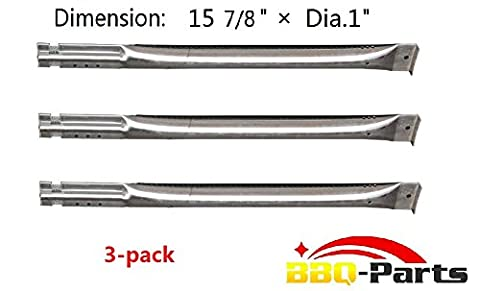 Hongso SBE591 (3-pack) Replacement Straight Stainless Steel Pipe Burner for Charbroil, Charmglow, Sears Kenmore, Centro and Other Grills (15 (Charmglow Sear Burner)