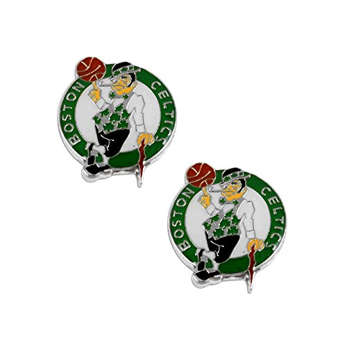 aminco Boston Celtics Post Stud Logo Earring Set Nba Charm