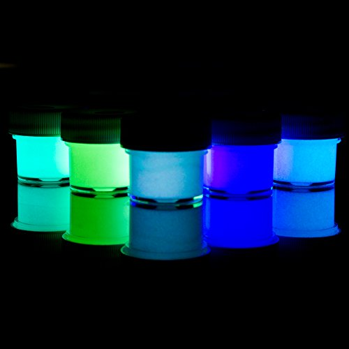 Glominex AT955 5 Packs, Assorted Ultra Glow in the Dark Paint, Glow Dark, Glow-in-the-dark Paint, Glow Paint