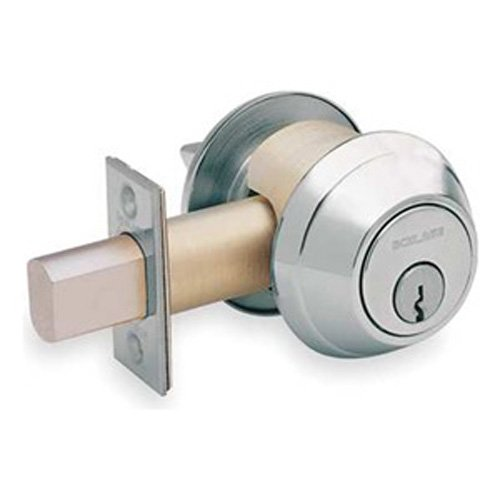 3. Schlage B660P 626 B600 Single Cyl Deadbolt 626, Satin Chrome Plated