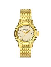 Tissot Women's Carson T085.210.33.021.00 Gold Stainless-Steel Swiss Quartz Watch