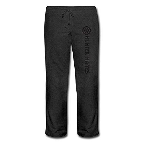 womens-hunter-hayes-logo-geek-cotton-bottom-fleece-sweatpants-black