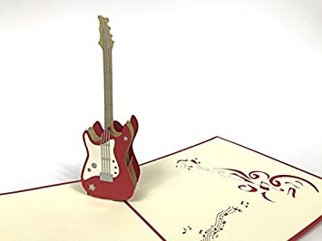 Guitar 3D Pop Up Greeting Cards Anniversary Baby Birthday Easter Halloween Mothers Fathers Day New Home