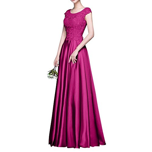 La Ballkleider Festlichkleider Brautmutterkleider A Elegant Abendkleider Linie Langes Spitze Rock Pink mia Bodenlang Partykleider Braut wzrq0wTa