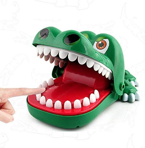 Maikerry Crocodile Dentist Game Big Crocodile Biting Finger Alligator Dental Game with a Gentle Toothache Hand for Kids 1 to 4 Players Ages 4 and Up by Maikerry