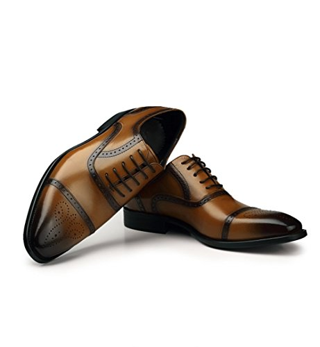 Primavera in Brown Scarpe Autunno Primavera Scarpe da Uomo e MSM4 Pelle Business Fashion fw1RxOpq