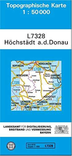 TK50 L7328 Höchstädt a.d.Donau: Topographische Karte 1:50000 (TK50 Topographische Karte 1:50000 Bayern)