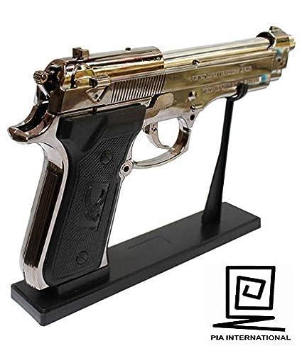 FastTech US9mm M9 Pistol Shaped Butane Jet Torch Lighter - Dark Grey And  Black