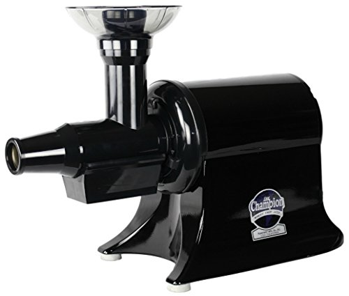 Champion Classic 2000 Single Auger, Masticating Household Juicer – G5-NG-853S – Black