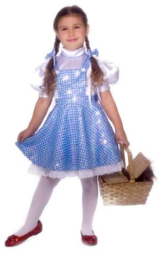 [Sequin Dorothy Costume Girl - Child 8-10] (Dorothy Kid Costumes)