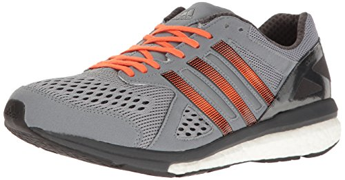 adidas Performance Men's Adizero Tempo M Running Shoe Grey/Black/Energy Orange 11.5 M US