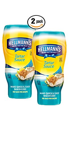 Pack of Two (2) Hellmann's Bring out the Best Tartar Sauce (9 Fl Oz)