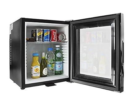 Iceq 24 Litre Deluxe Glass Door Black Mini Bar Fridge For Hotels
