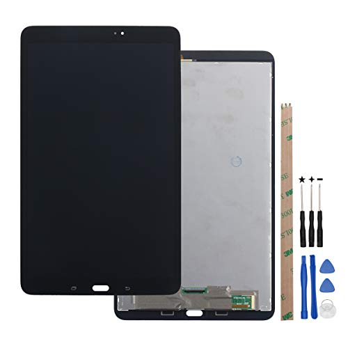 HYYT Replacement for Samsung Galaxy Tab A T580 2016 SM-T580 T585 10.1 LCD Display Touch Screen Digitizer Assembly + A Set of Tools(Black)