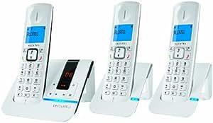 Alcatel Versatis F 250 Voice TRIO - Teléfono fijo analógico (Sistema de Grabación), Blanco (importado)