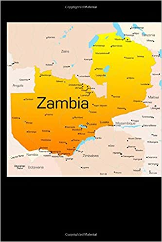 Map Zambia.Map Of Zambia Journal 150 Page Lined Notebook Diary Cool Image