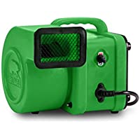 B-Air FX-1 1/4 HP 375 CFM Mini Air Mover for Water Damage Restoration Daisy Chain Carpet Dryer Floor Blower Fan, Green