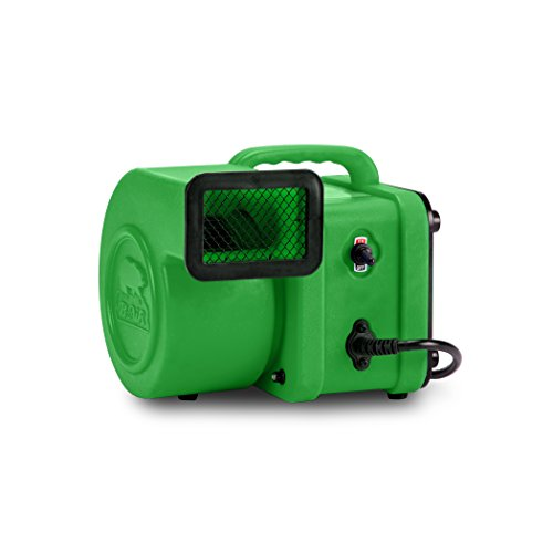 B-Air FX-1 1/4 HP Mini Air Mover for Water Damage Restoration Daisy Chain Carpet Dryer Floor Blower Fan, Green -  FX-1 GREEN