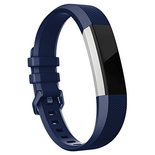Fitbit Alta HR Bands-Fitbit Alta Bands-Navy Blue Large,RedTaro Adjustable Replacement Accessory Bands/Straps/Bracelets for Fitbit Alta HR/Fitbit Alta for Women/Men(no Fitbit Fitness (Navy Blue Strap)