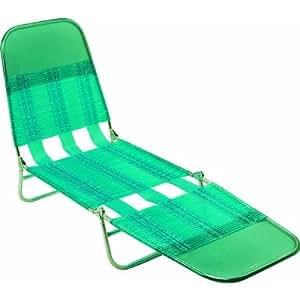 Amazon Com Steel Pvc Jelly Folding Chaise Lounge Patio