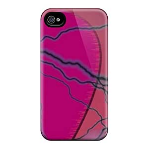 New Fashion Premium Tpu Case Cover For Iphone 4/4s - Electricfied Heart
