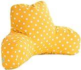 Majestic Home Goods Ikat Dot Reading Pillow, Citrus