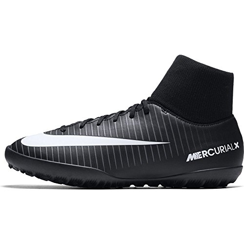 Nike JR MERCURIALX VICTORY 6 DF TF - Zapatillas de fútbol sala, Unisex infantil, Negro - (Black/White-Dark Grey-University Red)