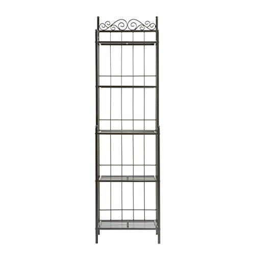 Southern Enterprises Celtic Bakers Rack – Gunmetal Gray