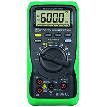 kyoritsu 1011 auto ranging average sensing digital multimeter with temperature 600v 10 amp. Black Bedroom Furniture Sets. Home Design Ideas