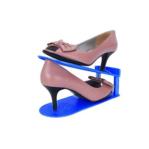 2 Pcs Creative Plastic Shoes Rack Organizer Space-Saving Storage Durable