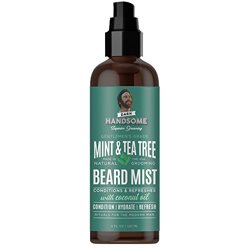 Price comparison product image Darn Handsome Superior Grooming Natural Mint & Tea Tree Men's Dapper Beard Mist with Coconut Oil - Condition,  Hydrate,  Refresh,  Rituals Modern Man Beard Styling Spray for all Beard Types 4oz / 120