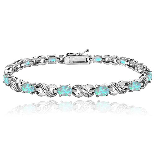 silver-tone-3ct-tgw-created-blue-opal-diamond-accent-infinity-bracelet
