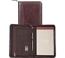 Scully Women\'s 5019Z Italian Leather Zip Padfolio (Walnut)