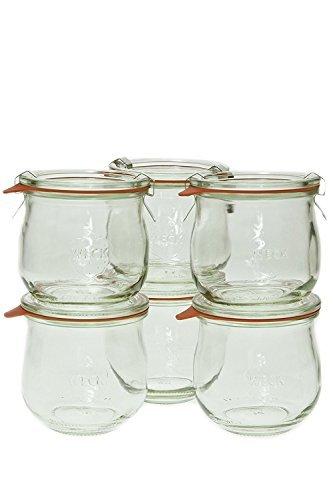 Weck 746 1/5 Liter Tulip Jar, 12.5 Oz - Set of 6 (Weck Canning Jars)